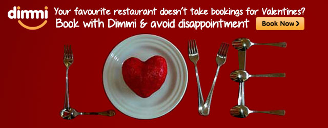 Your favourite restaurant doesn't take bookings for Valentine's? Book with Dimmi &amp; avoid disappointment